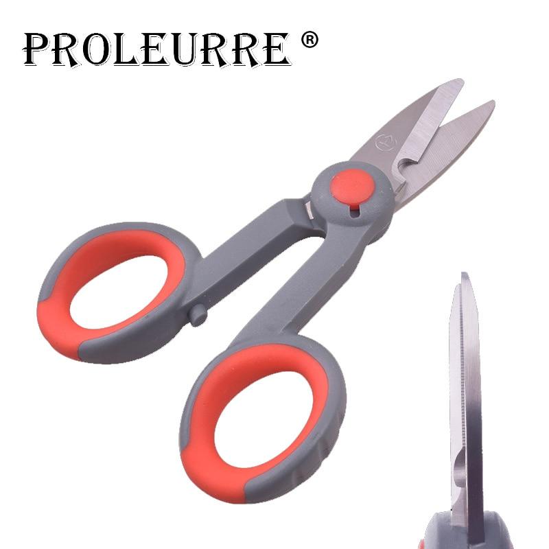 Portable Stainless Steel Scissor For Fishing Scissor Fishing Plier Cut PE Line Braid Line Lure Cutter Plies Carp Fishing Tools