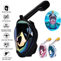 Scuba Dry Submersible Mask Swimming Mask Durable 3 Colors Drainage S/L Snorkel Breather Pipe Breathing Tool Anti Fog