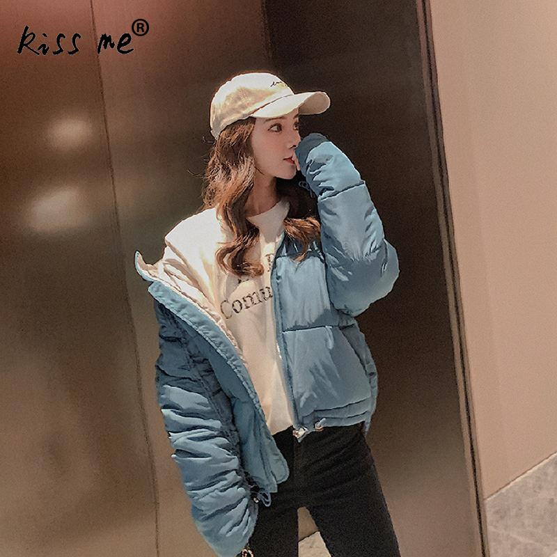 Solid Women Short Style Winter Outdoor Down Jacket Casual Loose Thermal Warm Coat Windproof Cotton Suit Autumn Hooded Jacket
