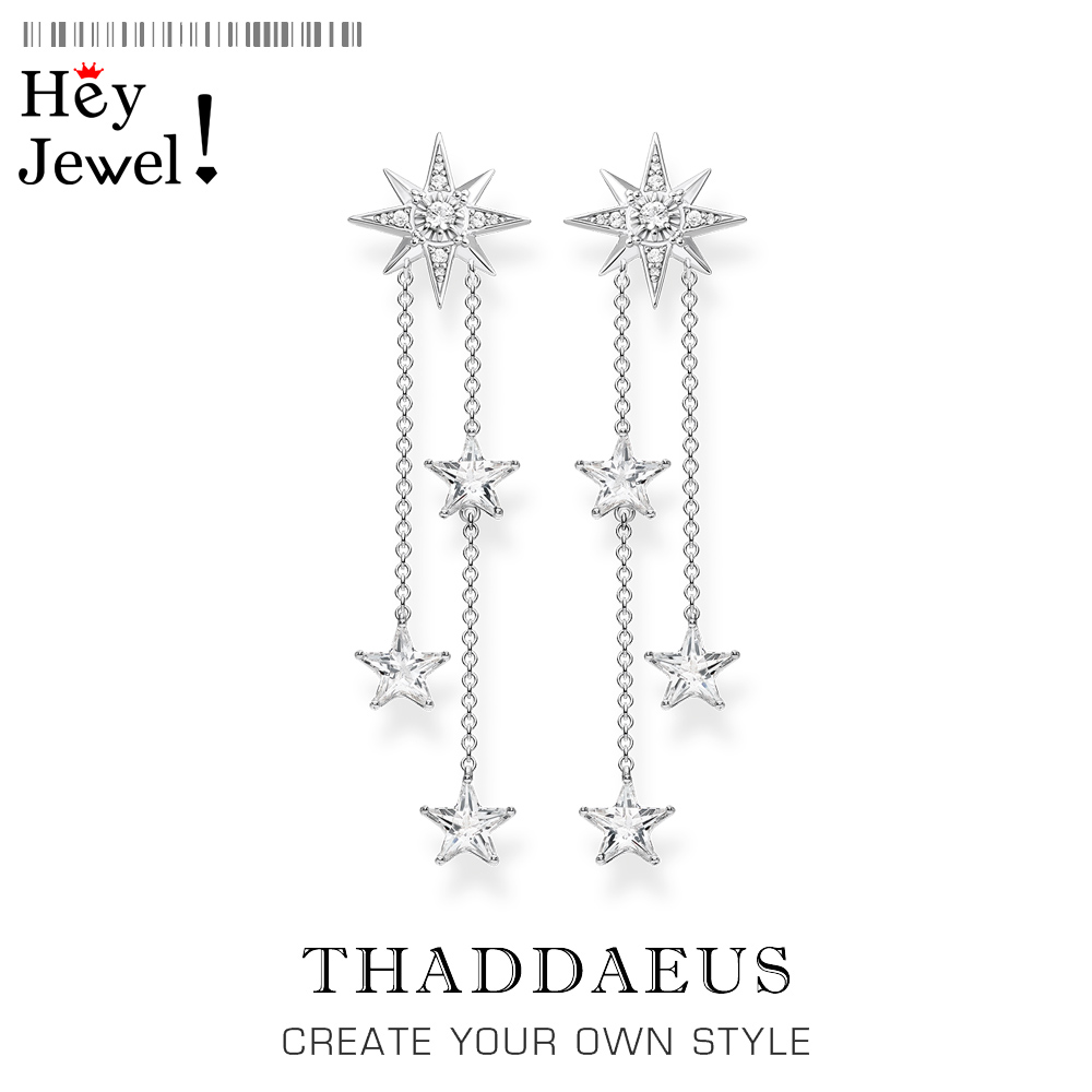 Magical Shooting Stars Drop Earrings,Thomas Fine Jewelry for Radiant Moments,2020 Summer Ts Trendy Gift In Sterling Silver 925