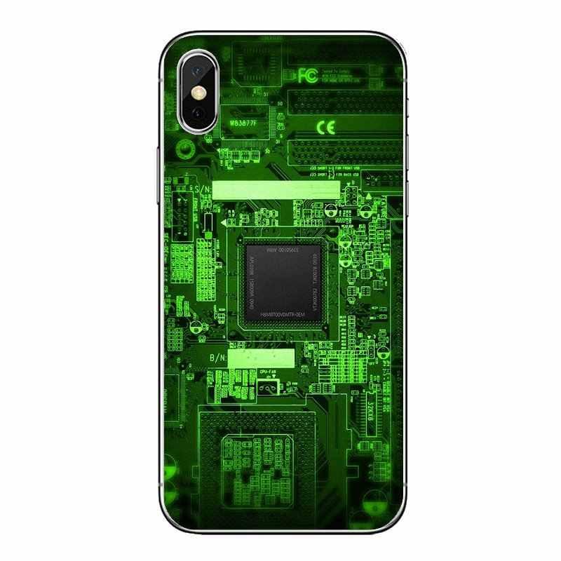 Cubierta transparente suave de la placa del circuito del teléfono de la batería de la computadora para LG G7 Q6 Q7 Q8 Q9 V30 X Power 2 3 para OnePlus 3T 5T 6T