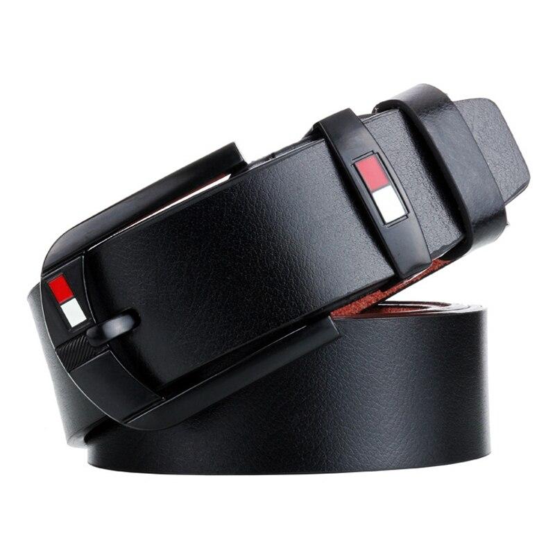 Designer Alloy Pin Buckle Belt For Men Business Men Casual Genuine Leather Belt Fancy Vintage Jean Cintos Belts Classice Strap