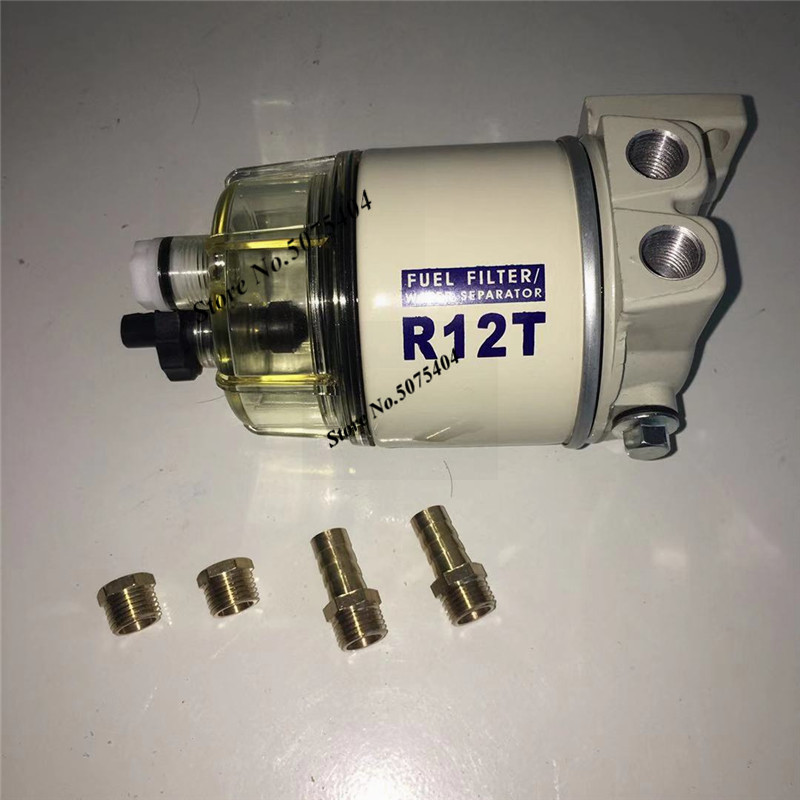 Fuel Filter R12T Fuel/ Water Separator Complete Assembly Filter Diesel Engine For Racor 120ad 140 Series Automotive Parts Filter