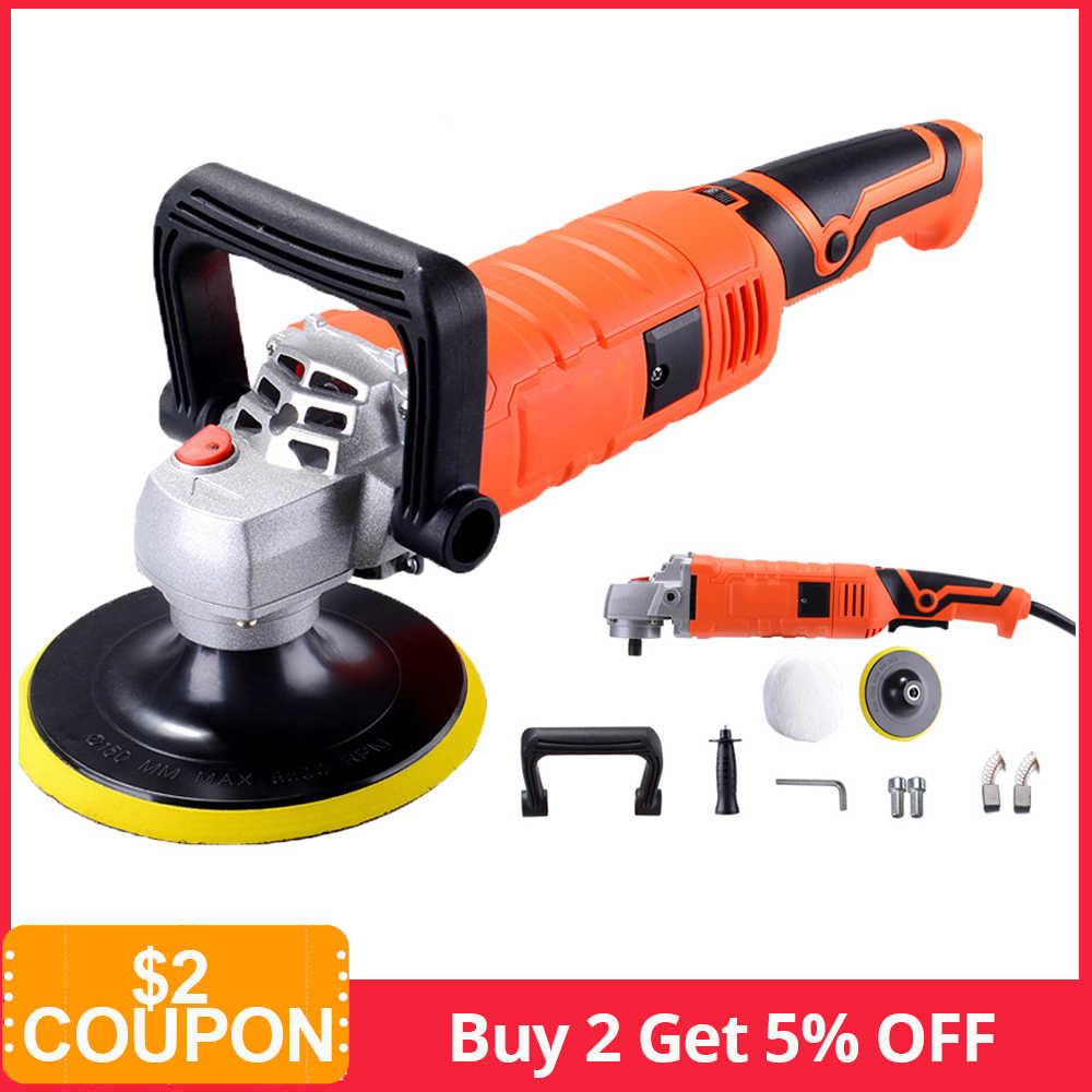 1580W 220V Grinder Mini Polijstmachine Auto Polijstmachine Schuren Machine Baan Polish Verstelbare Snelheid Schuren Waxen Power Tools