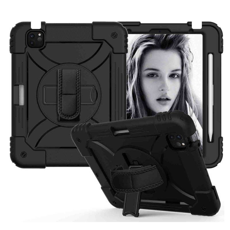 5 Black For iPad Air 4 10 9 Case 2020 Hybird 3 Layers Armor Kids Shockproof Tablet Case