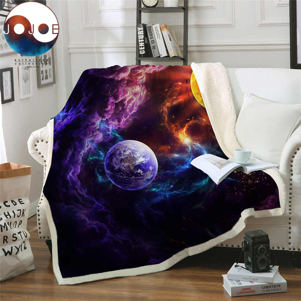 Plan of Salvation by JoJoesArt Bed Blanket Planet Sherpa Blanket Galaxy Nebula Soft Plush Bedspreads Outer Space Custom Blanket