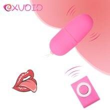 Exvoid g-ponto massageador vibradores para mulher orgasmo produtos adultos à prova dwaterproof água brinquedos sexuais para mulher mp3 ovo vibrador controle remoto