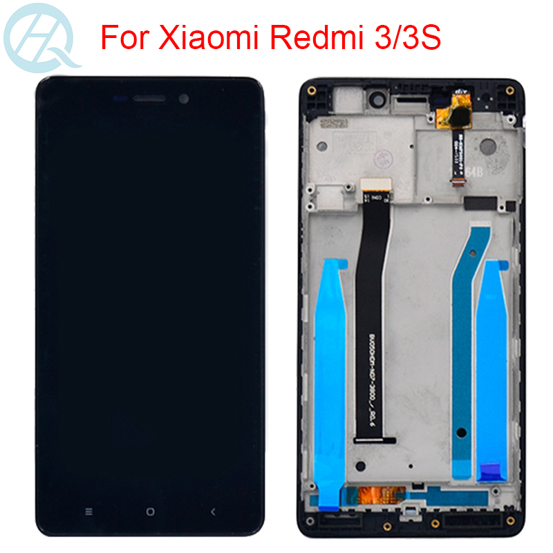 Original LCD For Xiaomi Redmi 3s Redmi 3 Redmi 3 Pro Display With Frame Touch Screen Digitizer Assembly 5.0