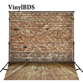 Винилбдс фон для детской фотосъемки красная кирпичная стена фон для студийной фотосъемки деревянный пол фотосъемка для фотостудии