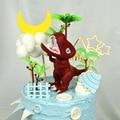 Динозавр торт Декор большой рот динозавр один 1-й день рождения торт Декор Болон День Рождения Декор С Днем Рождения Декор для детей мальчик...