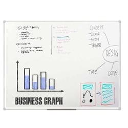 Magnetic marker board STAFF, 90*120 cm,