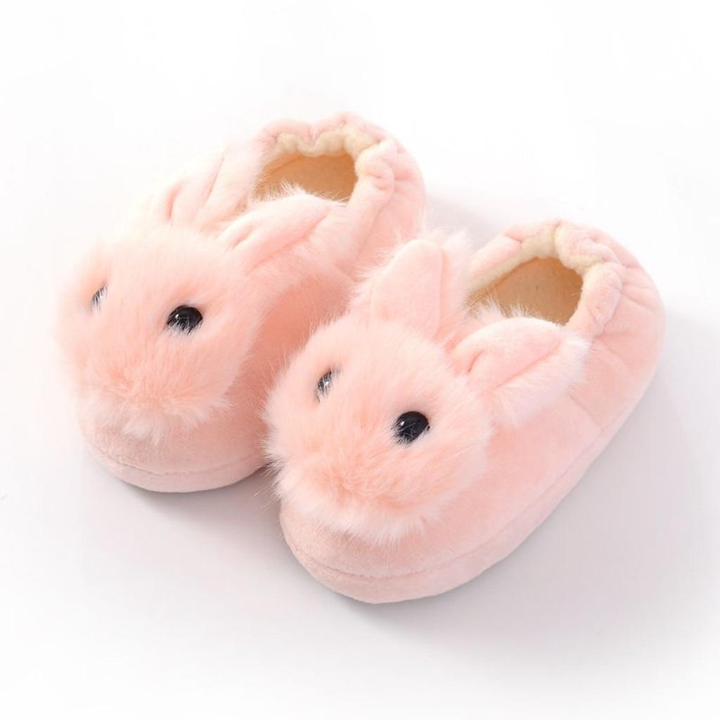 H17f79e8150e04a8fbab0006f8633d244m Sapatos para crianças de algodão, sapatos para crianças meninos e meninas de outono, chinelos fofos com orelhas de coelho, espessamento de bola, sapatos internos