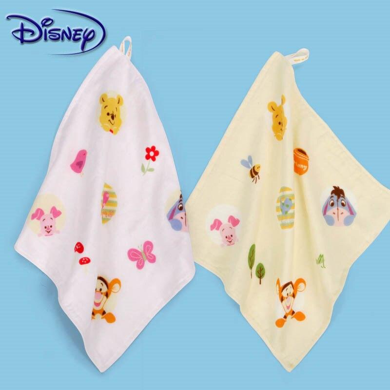 Disney Baby Handtuch Winnie The Pooh Glückliche Familie Gaze Quadratischen Halstuch Reine Baumwolle Waschen EIN Gesicht Handtuch