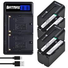 4 sztuk 5200mAh NP-F750 NP F770 akumulator litowo-jonowy + LCD podwójna ładowarka USB dla Sony NP-F750 NP-F770 kamera światło LED do kamery D & F CCD-RV