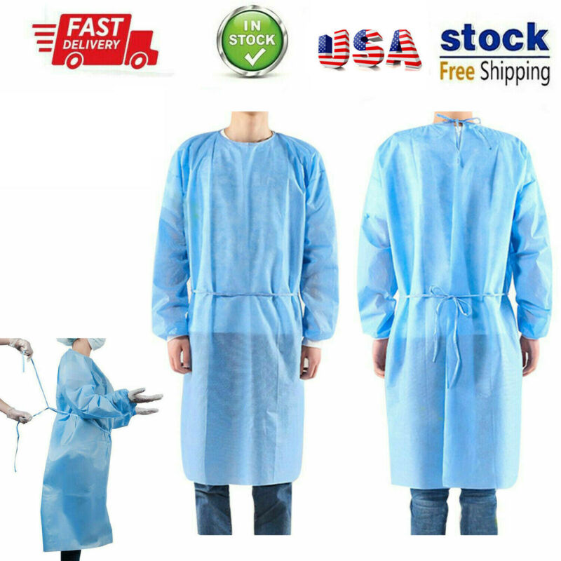 Disposable Medical Protective Clothes Surgical Safety Isolation Gown Coveralls Painting Workshop Safety Suit