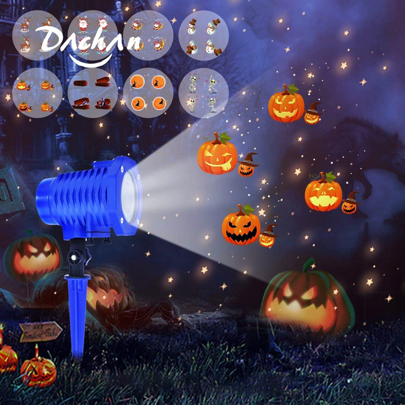 DACHAN Waterproof High Power LED Animated Projector Light Outdoor Xmas Wedding Party Halloween Projection Lamp Holiday Lighting
