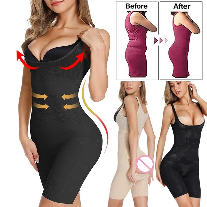 Open Bust Bodysuit Shapewear for Women Full Body Briefer Shaper Tummy Control Underwear