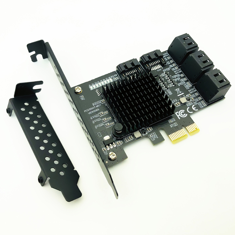 8 Port SATA 3 PCI Express Expansion Card PCI-E SATA Controller PCIE 1X to SATA Card SATA3.0 6Gb Adapter Add On Cards for HDD SSD