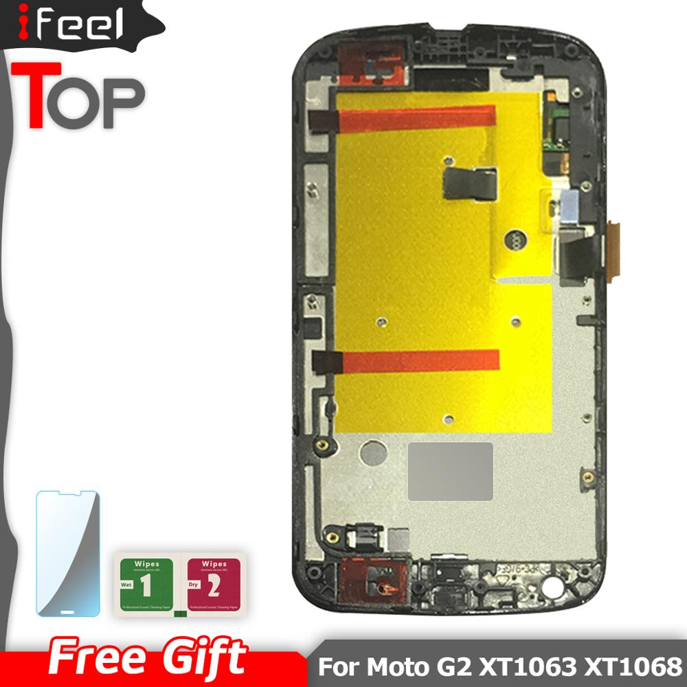 5.0'' For MOTO G2 LCD <font><b>Display</b></font> + Touch Screen Digitizer with frame For <font><b>MOTOROLA</b></font> MOTO G2 <font><b>Display</b></font> G+1 XT1063 XT1069 <font><b>XT1068</b></font> image