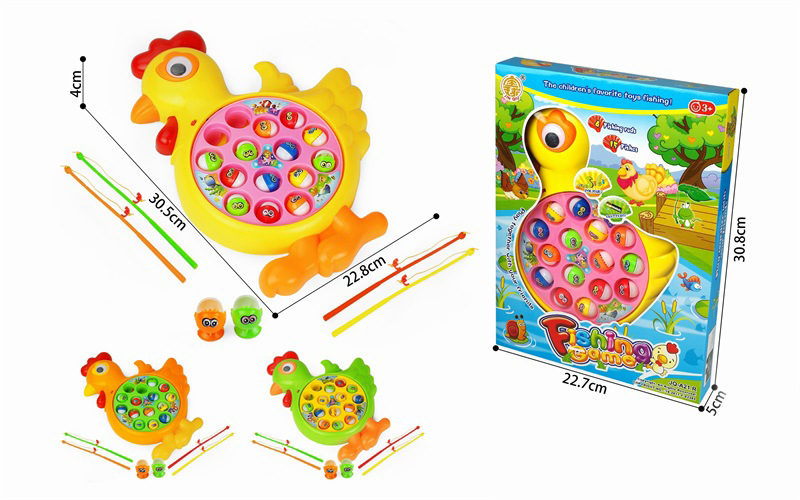 Children Electric Cartoon Fishing Pad Music Rotating Fishing Plate Educational Parent And Child Game Fishing Toys Hot Selling