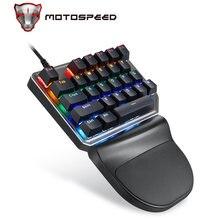 Motospeed k27 одной рукой механический компьютер pc pubg gaming