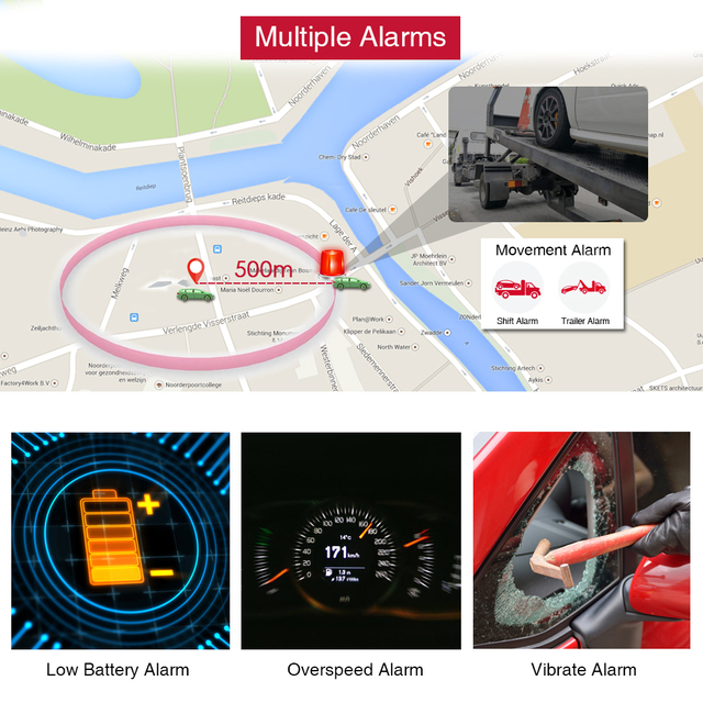 TK905 GPS Tracker Car TKSTAR 2G TK905 Realtime Tracking Voice Monitor GPS Locator 90 Days Long Standby Waterproof Free Web APP 3