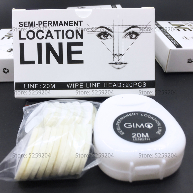 10BOX Tattoo brow mapping NO Pre-Ink Semi Permanent Makeup Eye Brow Measure Thread Eyebrow Shape Line Marker Ruler Template Tool 4
