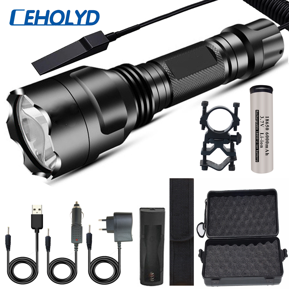 XHP50.2 Super Bright LED Flashlight 5 Lighting Modes Led Torch For Night Riding Camping Hunting & Indoor Activities Use 18650