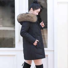 KMETRAM Winter Coat Women Real Raccoon Fur Collar Down Jacket