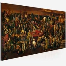 Grande tamanho da arte lona pessoas famosas pintura discutir a divina comédia com dante pintura a óleo imprime cartaz para sala de estar