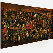 Large Size Canvas Art Famous People Painting Discussing The Divine Comedy With Dante Oil Painting Prints Poster for Living Room