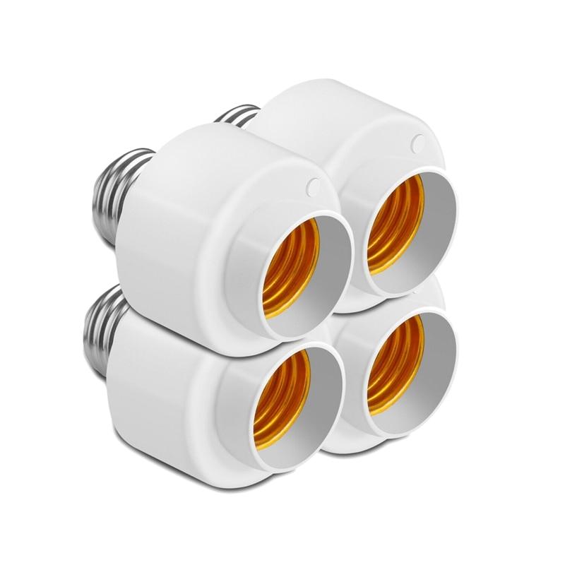 4 Pack Tuya Smart Life Wifi Smart Light Bulb Socket Adapter E27 Switch Lamp Base Holder For Amazon Alexa Google Home