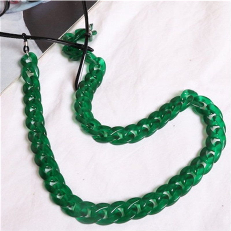 Fashion Acrylic Candy Color Reading Glasses Chain For Women Cords Beaded Eyeglass Lanyard Hold Straps Sunglasses Chain