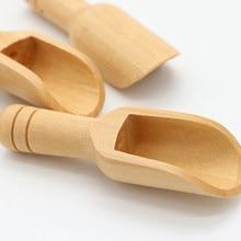 Mini colheres de madeira banho colher de sal colher de farinha de doces colheres de cozinha utensílios de banho chuveiro spa ferramenta detergente em pó colher