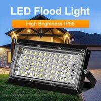 2 unids/lote 50W 100W Luz de inundación Foco LED 220V al aire libre, proyector de iluminación de IP65 focos de LED al aire libre casa