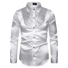 Shirts Costume Nightclub Personality Hombre Fashion Men Sequins Host Winter Autumn MaleLong Sleeve Slim Casual