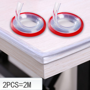 2M Transparent Table Edge Furniture Guard Corner Protectors Bumper Strip with Double-Sided Tape for Cabinets, Tables, Drawers(China)