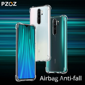 PZOZ For Xiaomi Redmi Note 9S 8 9 8T Pro max Protection Case Transparent Clear Shockproof Anti-fall Luxury Silicone Cover Case(China)