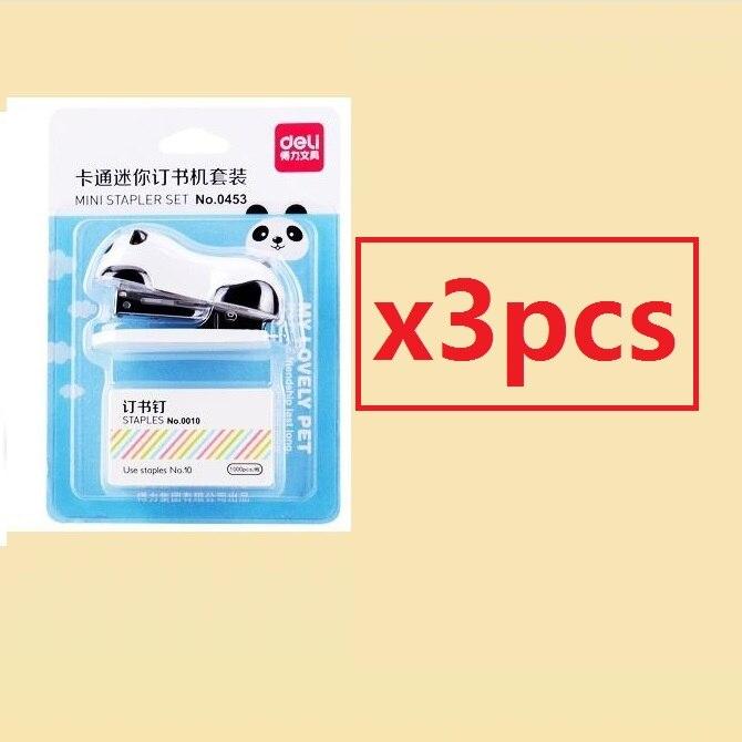 [4Y4A] супер восхитительный мини-степлер в форме панды из мультфильма - Цвет: 3pcs
