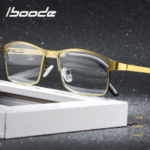 iboode High Quality Men Business Reading Glasses Titanium alloy Vintage Anti-Blu-ray HD Computer Goggles For Men +1.0 +1.5 +2.5