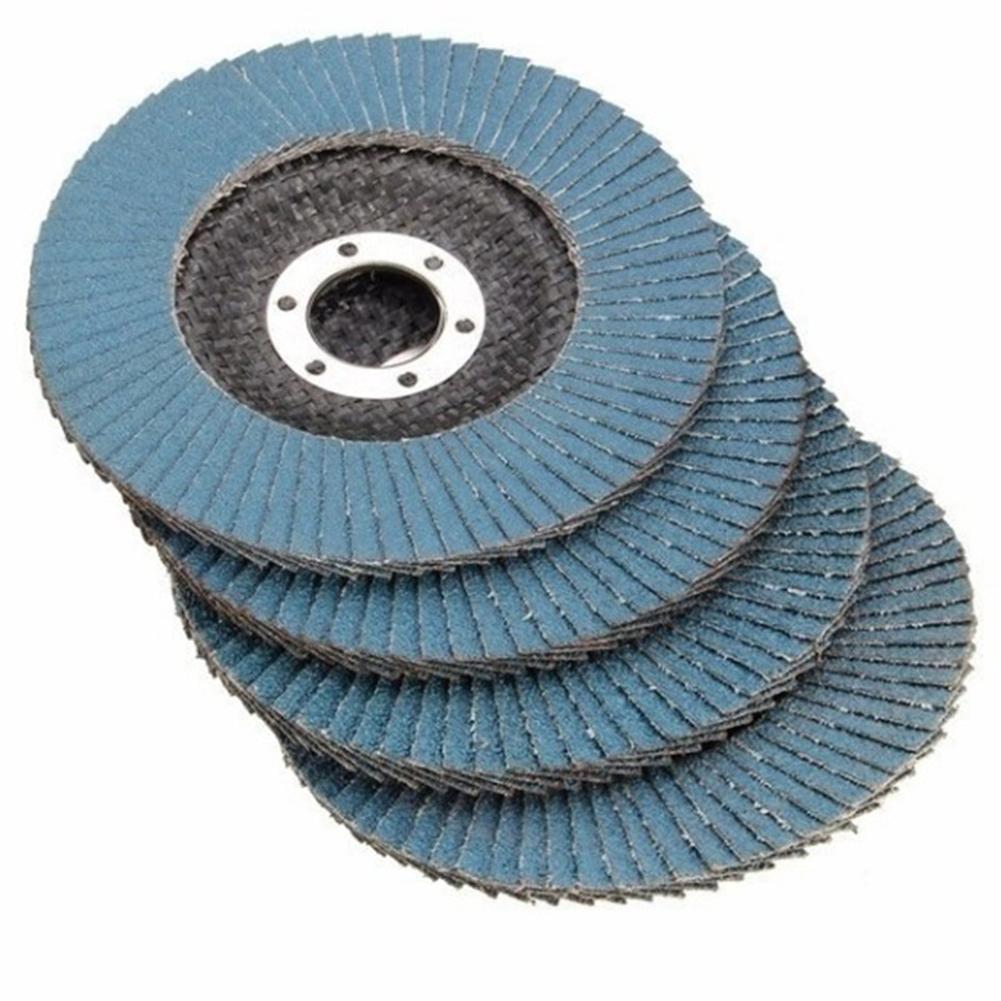 10PCS Professional Grinding Wheels Flap Discs 115MM 4.5 Inch 40/60/80/120 Grit Sanding Discs  Metal Plastic Wood Abrasive Tool