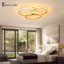 3 Кольца Круг Современная Золотая светодиодная Люстра для гостиной