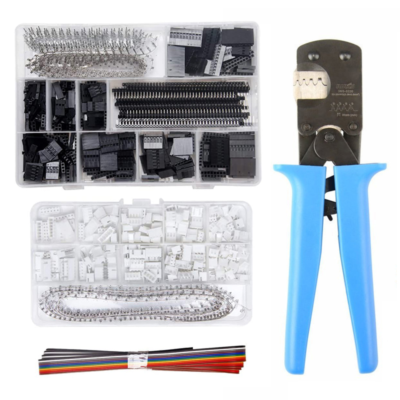 IWS-3220 Crimping Pliers Crimper Tool With 460pcs XH 2.54mm JST Connector Kit And  1550pcs 2.54mm DuPont Terminals Set