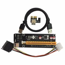 PCI-E PCI Express 1X to 16X Riser Card USB 3.0 Cable SATA to 4Pin IDE Power Cord Molex Power for BTC Miner Machine(China)