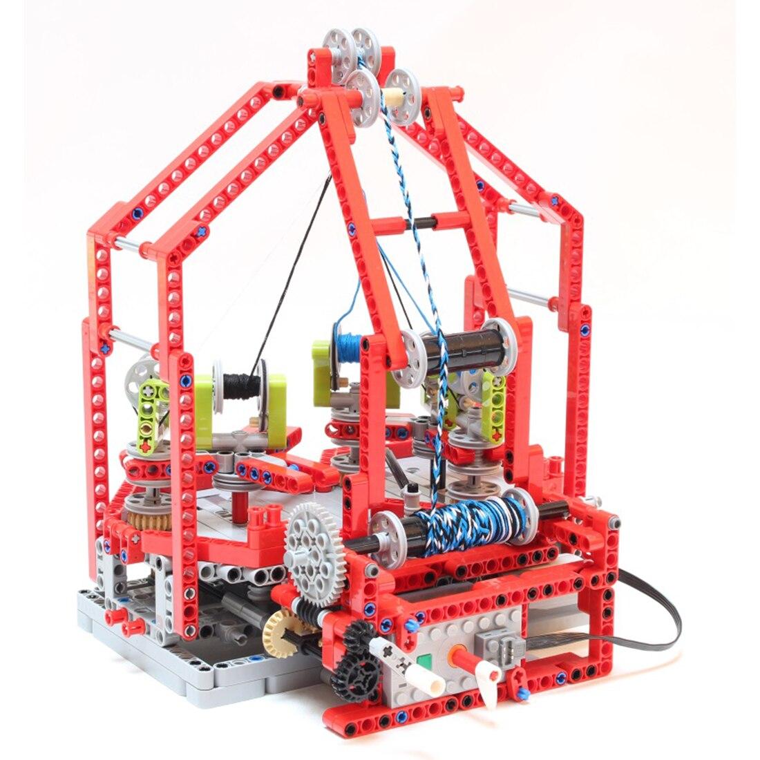 MODIKER 759Pcs Moc Technic Bricks Fast Braiding Machine City Roof Particle Building Blocks Programmable High Tech Toys