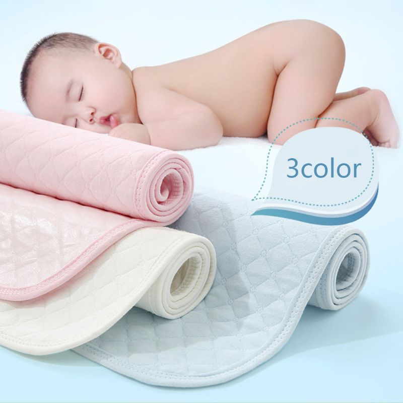 Reusable Baby Changing Mat Waterproof Layer Infant Cotton Diaper Pad Nappy Bedding Sheet for Newborn Kid | Happy Baby Mama