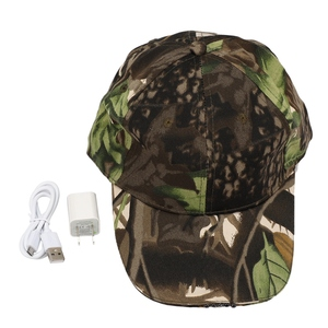 Camouflage Night Fishing Hat USB Rechargeable Baseball Cap for Outdoor Jogging Breathable Snapback Hats Hip Hop Party Holiday