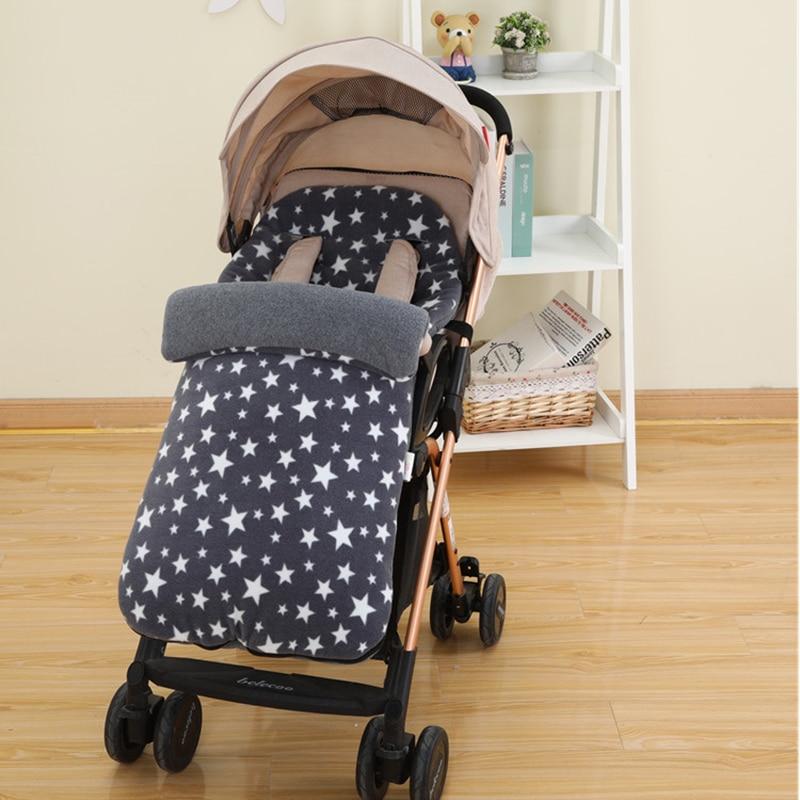 1 шт., ветронепроницаемый флисовый спальный мешок для детской коляски, осенний зимний кокон для новорожденных, одежда для сна, накидка, кокон в коляске