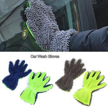 Rękawica do mycia samochodu szenila z mikrofibry rękawica do mycia samochodu Mitt wielofunkcyjna dwustronna rękawica do mycia czyszczenie ręczników tanie i dobre opinie Goxfaca Funkcja peeling Koral polar Car Wash Glove Car Cleaning Tool