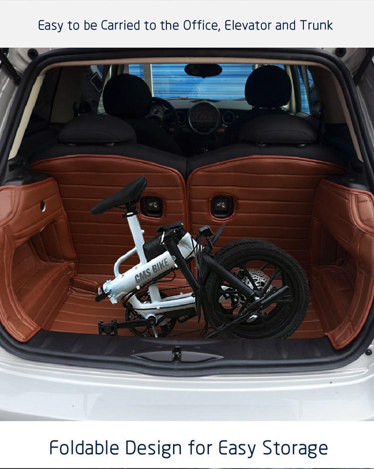 16 inch smart mini folding electric bike lithium battery powered foldable ebike for adults 5